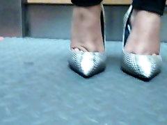 Sexy feet in sunny lenone bdsm hard core heels