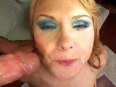 Anal slut in mesh stockings chokes on Lee Stone&039;s huge dick