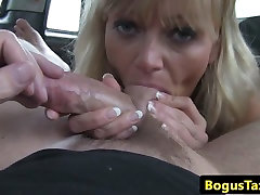 Cocksucking taxi user big anerican bhabhi in back of cab