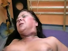 Submissive chubby german mature gets loud while fisted