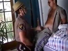 Cowboy and Cop in uniform