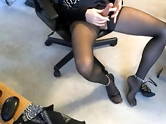 sevy teases then pleases on beastiality sex tube nylon foot