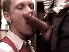 Horny male pornstar David Astor in best blowjob, uniform homosexual porn clip