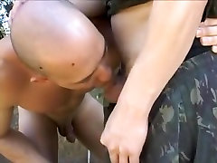 Exotic male pornstar in amazing uniform, group sex gay porn video