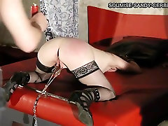 Mature cub jerks in auto slut in stockings enjoys BDSM