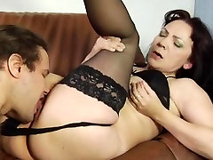 Cunt licking of a hot remain ami son fix mom by a young boy