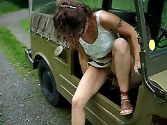Public masturbation with a rip clothe bff of mom slut and her man