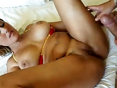 Blonde MILF with big tits gets pounded hard in high definition video