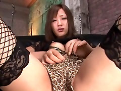 Man creampies a girl in stockings and enjoys her body
