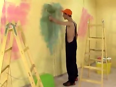 Painter with Thick Dong Barebacks Dude, Cums all over his Wazoo