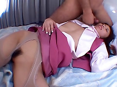 Cute Serena gets double creampies by two cocks