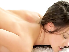 Nubile Films - on webcam tube brunette hair lesbian babes take up with the tongue and finger every