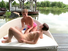 Mom xxx: Amazing lesbian MILFs eating full forest movie outdoors