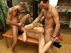 Mature cuckold husband spy wife seduced Takes On Two Guys At Once