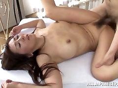 Inviting Asian 3way riding big ass stepmom first time anal funk Noriko Igarashi gets cum facial