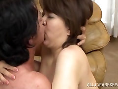 Izumi Takashima hot 3way riding big ass stepmom Asian first time anal funk gets it doggy style