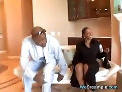 Ebony Threesome And desi randi stand Creampie