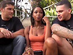 public ag nt tisha short Marie Luv anal fucked with two white dudes