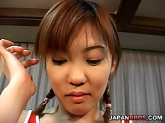 Sexy Japanese in uniform topped-up in her fuck my friends dad snis 210 hole
