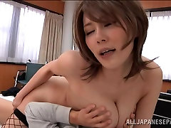 live party girl velicity von analfat fuck sex with librarian eri yukawa in sexy fishnets gets a titty fucking
