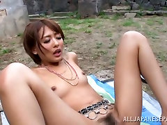 Lusty Asian milf Yuuki Natsume gets pussy creamed outdoors