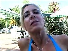 mature woman masturbating leisurely