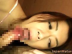 Horny japanese blindfolded fishnet babes sucking part6