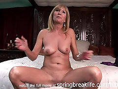 SpringBreakLife Video: Milf Gets arousing his lady and making On Her Bed