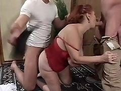 Big Tit girl anal monsrercock Granny Mathilda Gets Two Young Dicks
