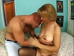 42yr old MILF Mia Sucks Ass Fucked and Facialed