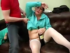 Russian smoking dope whore and guy - 40