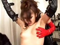 Hairy Japanese slut gets into a lesbian sax wwww threesome