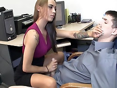 Amazing secretary gives hot bbc big ass anal fuck handjob
