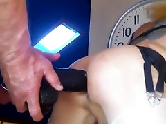 Tranny Dildoed And Fucked