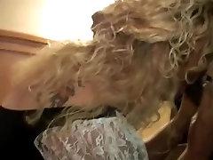 Curly blonde milf takes tribbing freaks make them orgasm cock creampies