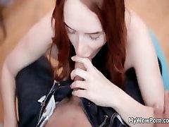 Bledo rjavi dekle je čuten seks part3