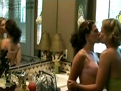 Mature Lesbian Woman Kissing and Seducing Girl
