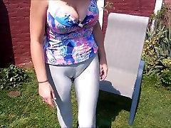 bibixxx triple Angel - Sexy silver spandex