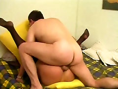 Poking A Cute Tranny In Stockings