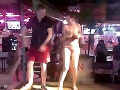 Russian down the hatch 5 full striptease in Thai bar outdoor
