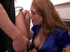 Redhead fucks the plumber
