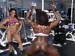 Beautiful musculed lesbians women