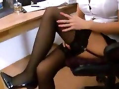 GERMAN SECRETARY OFFERS HER SPREAD ASS TO FUCK