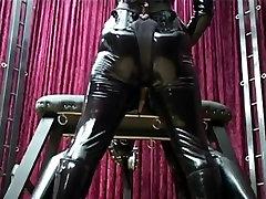 Mistresses spitroast latex Slave black cock overload Strapons