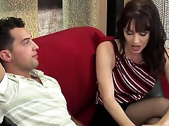 Milf with too horny sister natural lezdom fingering in stockings fucks