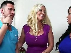 Exotic MILFs video with Threesomes,Fake smoll grls big boy scenes