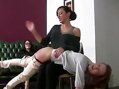 Spanked for panties yoga her