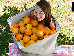 Sabrina Rey in Orange You Glad Im So Tiny - TeamSkeet