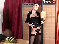 Drop Dead Sexy Laura in Lingerie and Fishnets