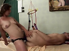 anna analo woman fuck man in ass